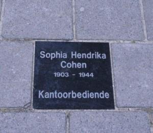 HerinneringsSteen  Sophia Hendrika Cohen