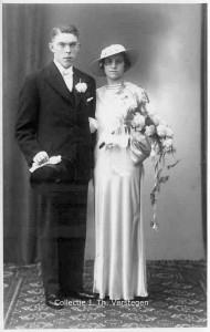 Wilhelmus Johannus Verstegen en Aleida Rothuis Foto: collectie J. Th. Verstegen