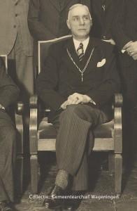 Ir. M.J. IJzerman burgemeester van Wageningen
