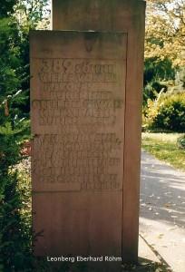 Leonberg Gedenksteen begraafplaats
