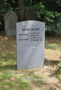 Grafsteen Meijer Wolder Foto: Collectie Wageningen1940-1945