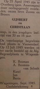 Gijsbert en Christiaan Bosman