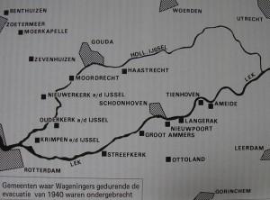 Evacuatieplaatsen 1940