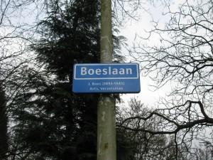 Straatnaambord Boeslaan